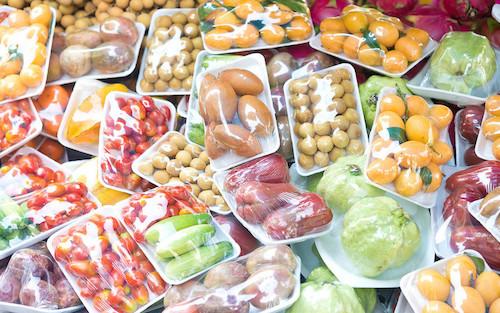 alimentos en plastico